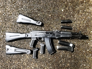AK100 FOLDING POLYMER STOCK SET